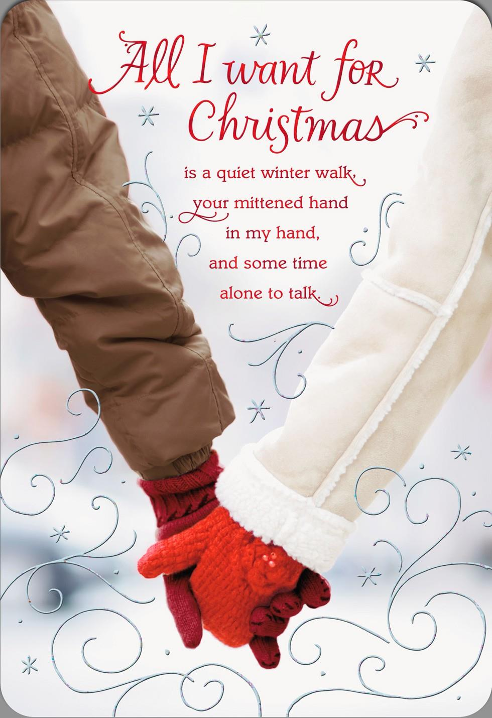 Holding hands in love christmas card greeting cards hallmark holding hands in love christmas card kristyandbryce Choice Image
