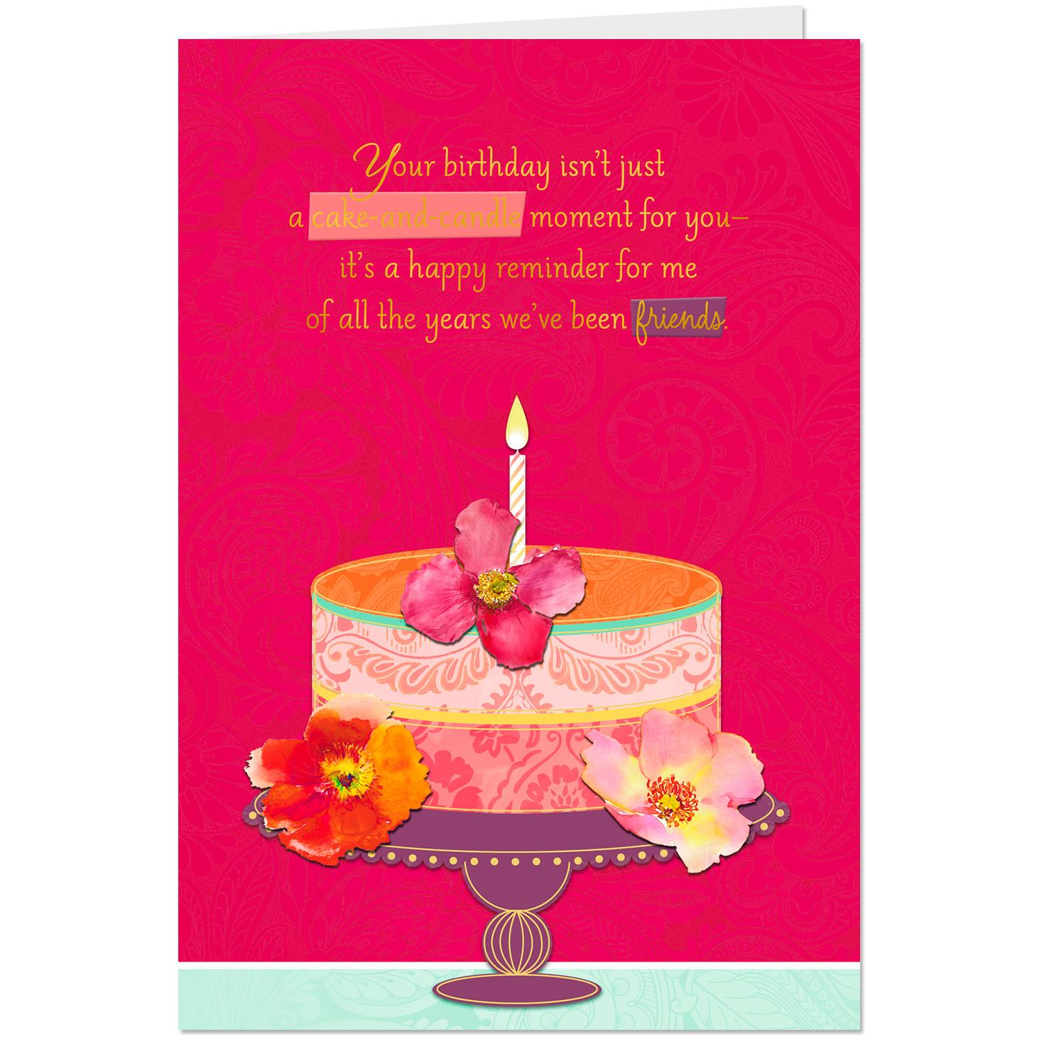 Happy We Re Friends Birthday Card Greeting Cards Hallmark