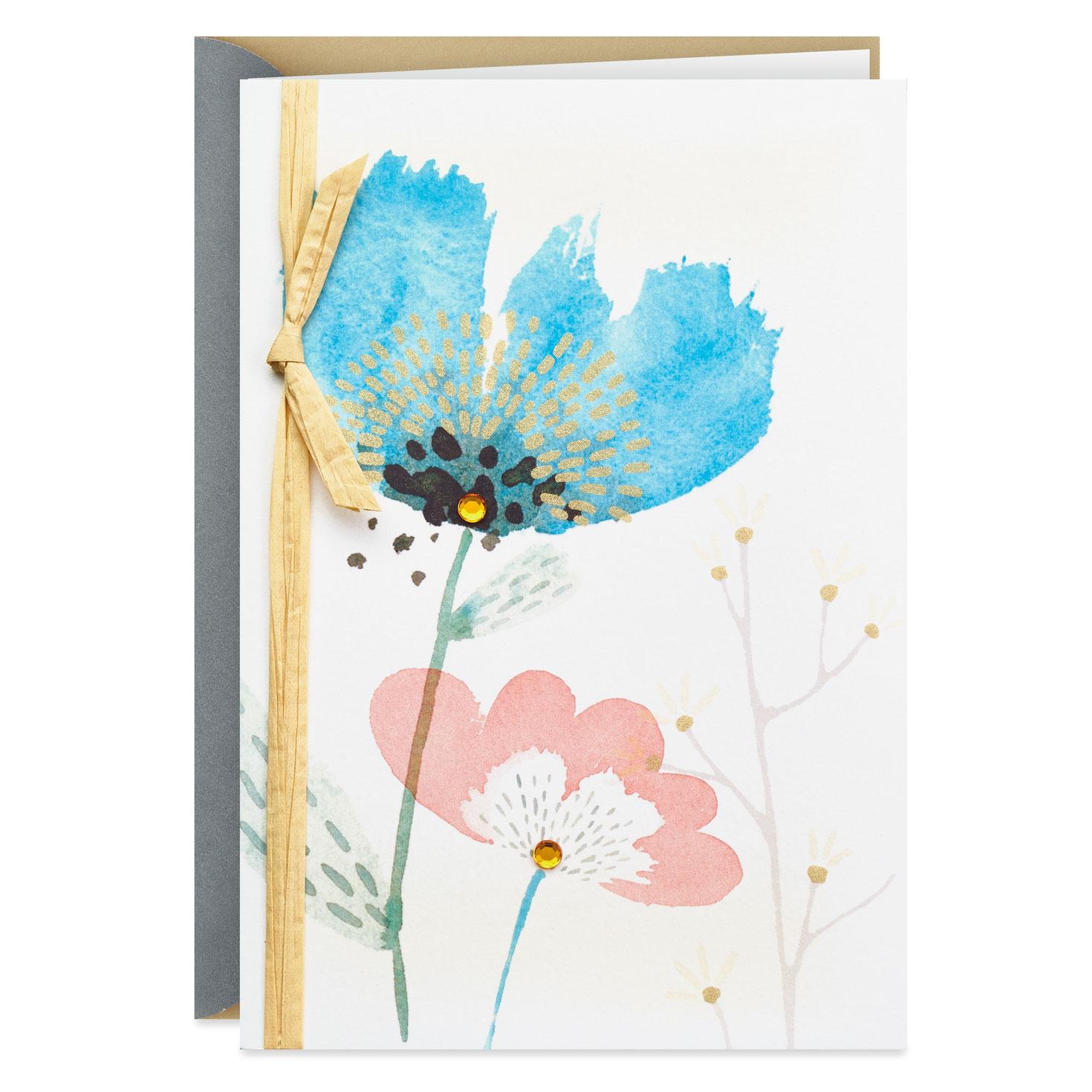 Modern Watercolor Flower Sympathy Card