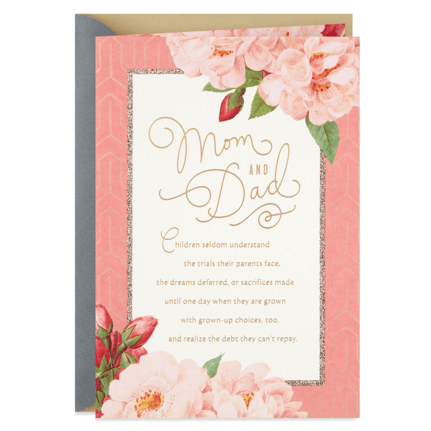 Flower Blossoms Anniversary Card for Parents - Greeting Cards ...
