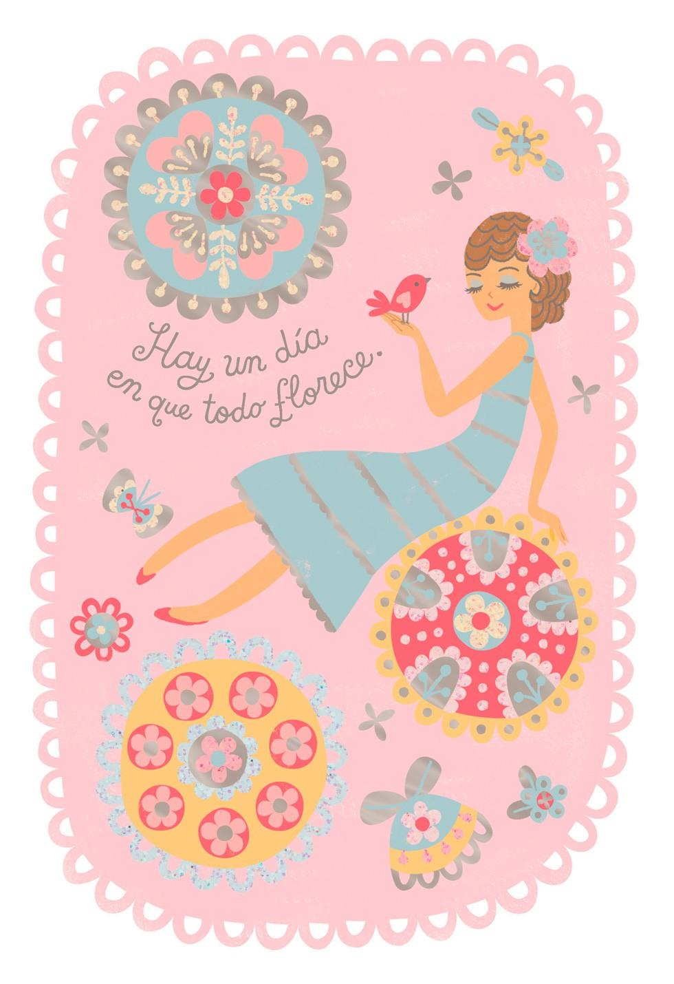 Beautiful blossoms birthday card for her greeting cards