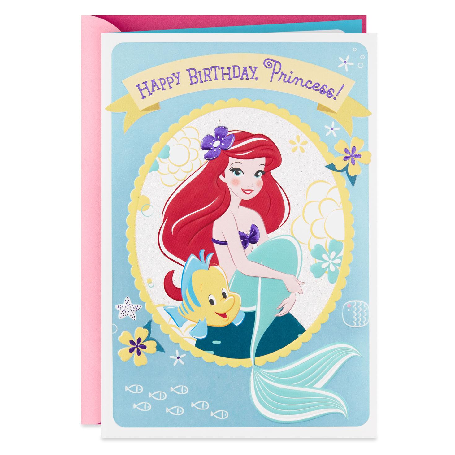 The Little Mermaid Dreams Begin Today Birthday Card