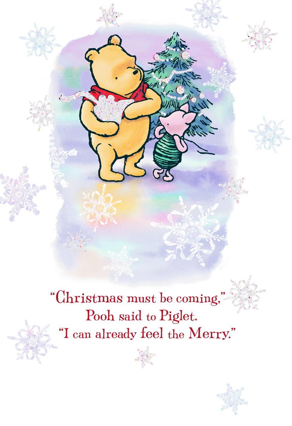 Winnie the Pooh Very Merriest Christmas Card - Greeting Cards ...