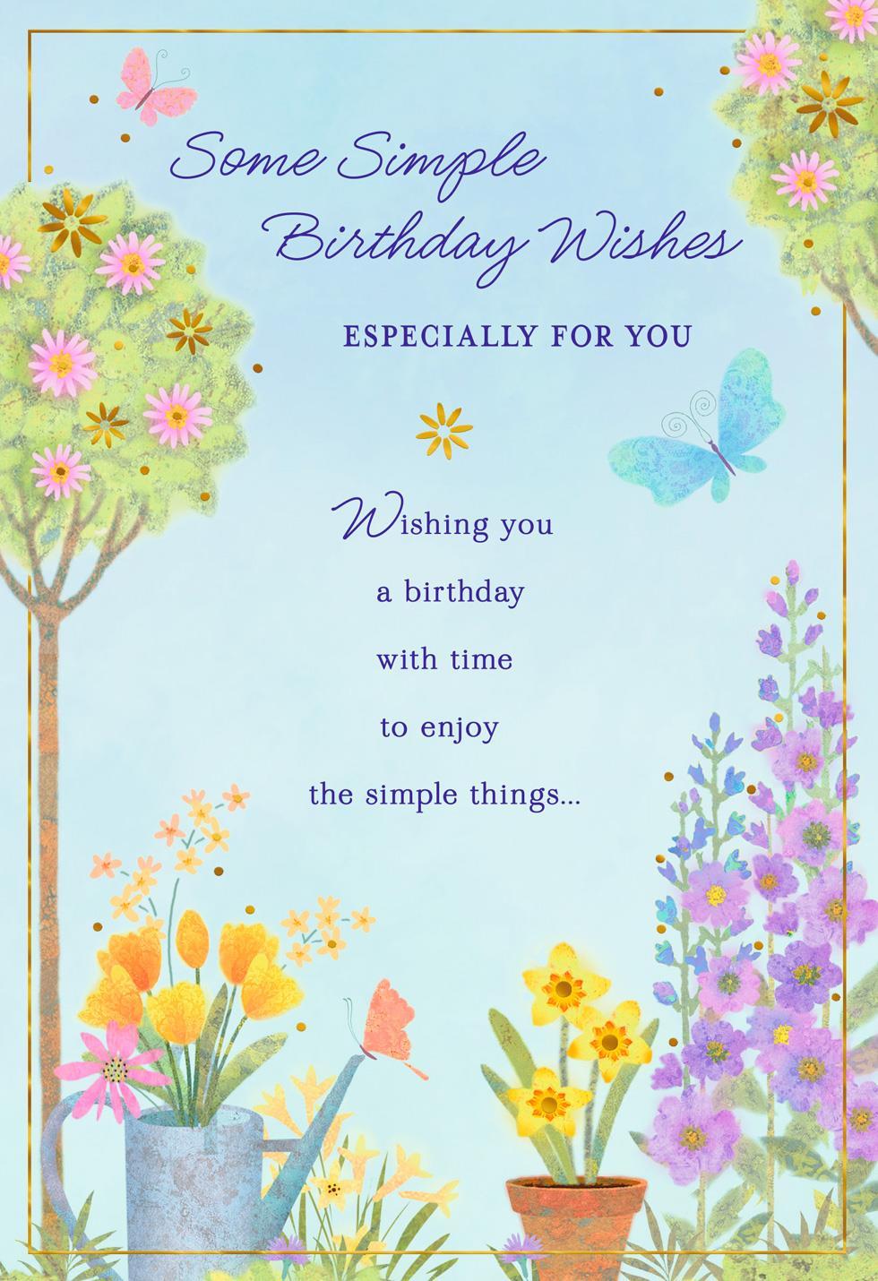 Simple wishes flower garden birthday card greeting cards hallmark simple wishes flower garden birthday card izmirmasajfo