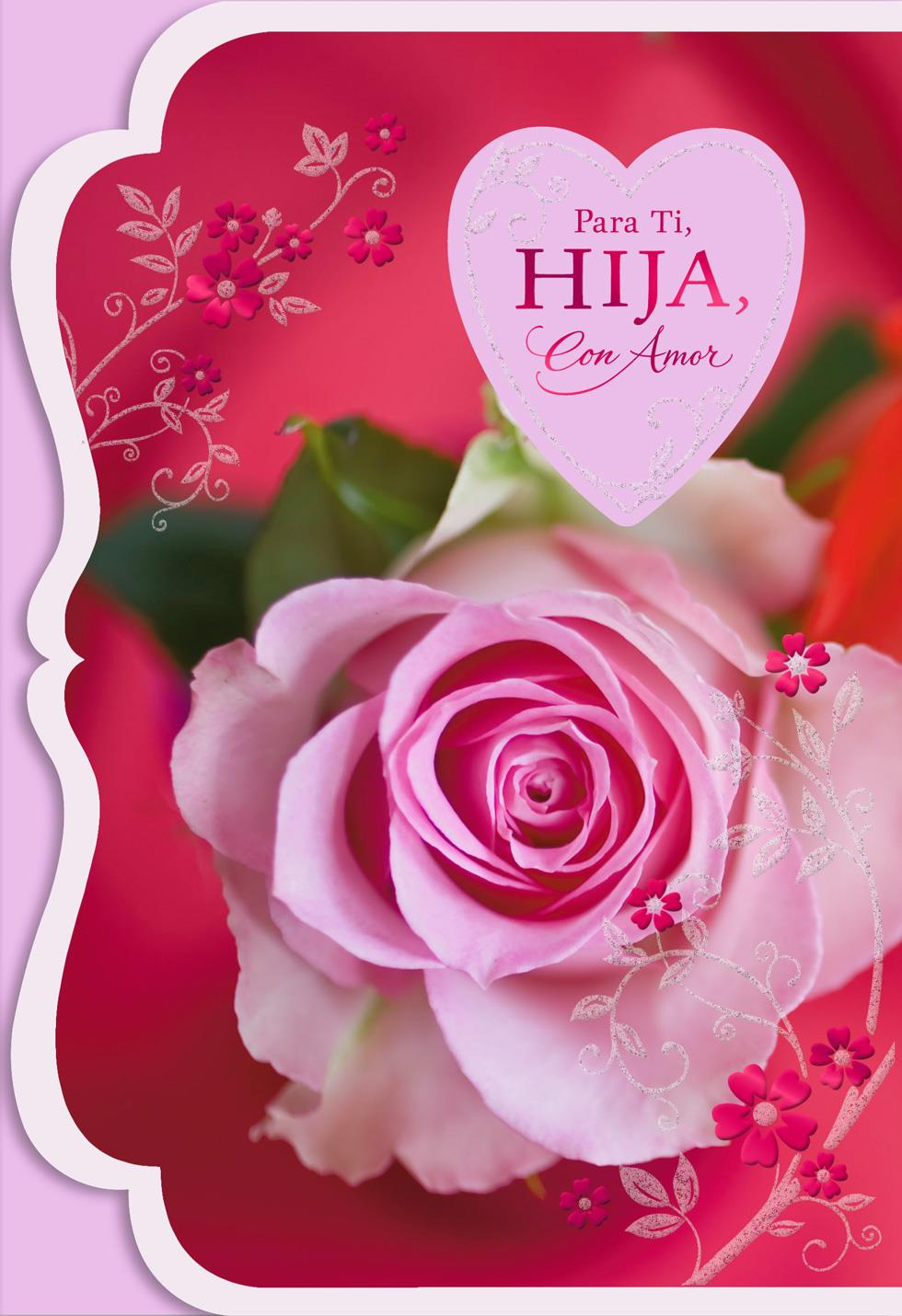 so proud spanish language valentine s day card for daughter