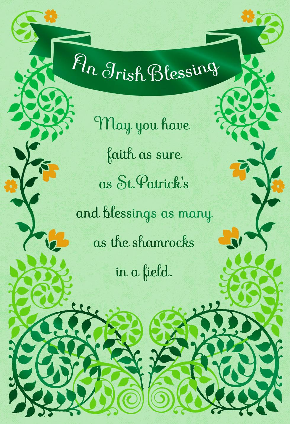 Faith and blessings st patricks day card greeting cards hallmark faith and blessings st patricks day card m4hsunfo