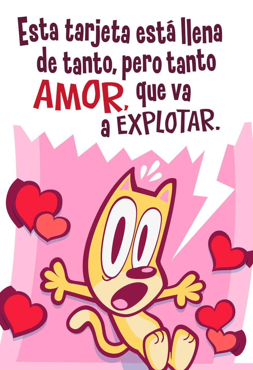 Love explosion spanish valentine s day card greeting cards