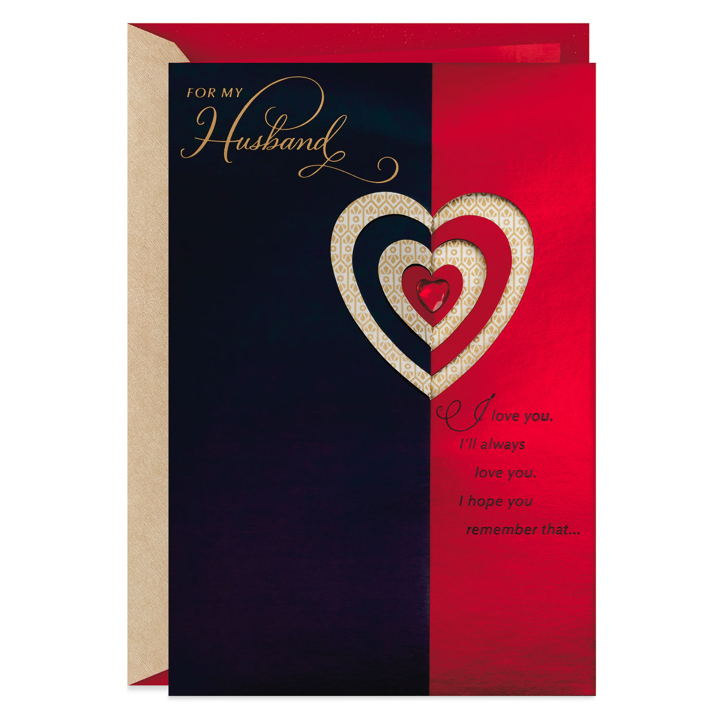 real love valentine's day card for husband  greeting
