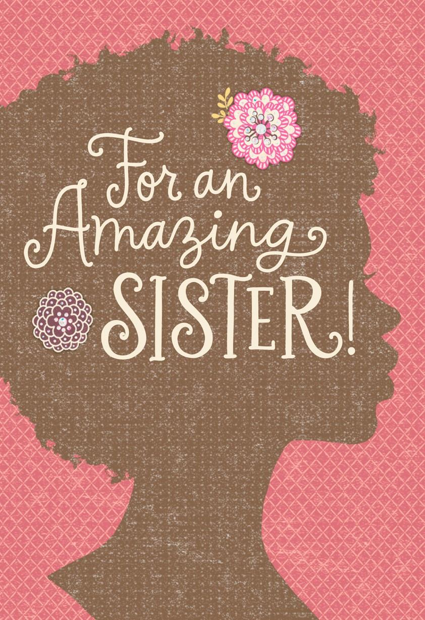 africanamerican sister silhouette birthday card  greeting cards, Birthday card
