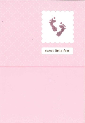 baby girl footprints congratulations card fix old skus hallmark