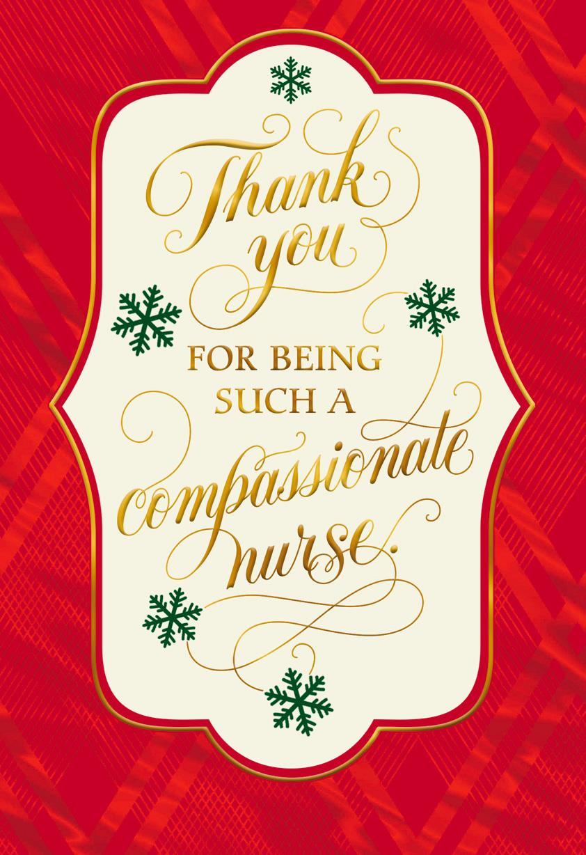 Christmas Greeting Cards Images.Thank You Christmas Card For Nurse