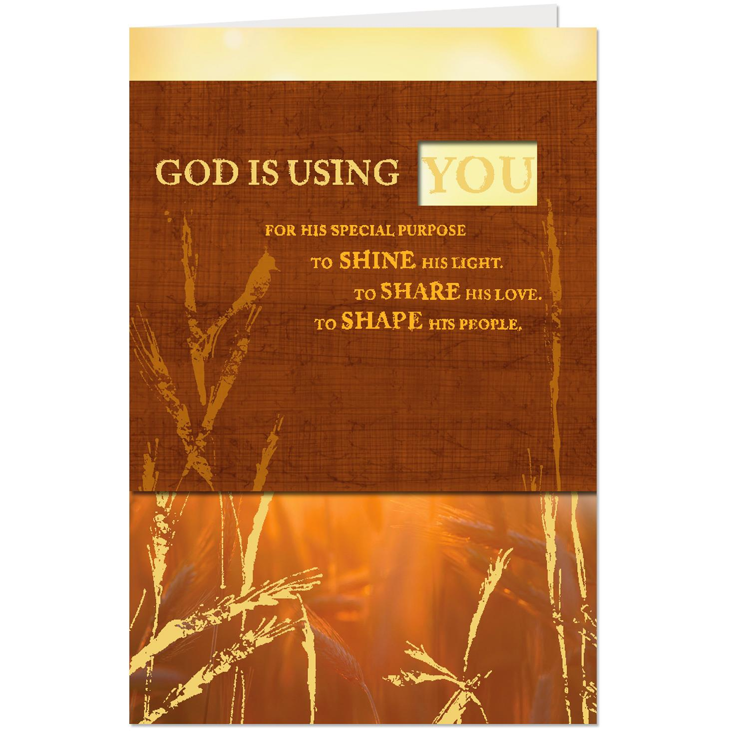 Grace Abounds In You Pastor Appreciation Card Greeting Cards