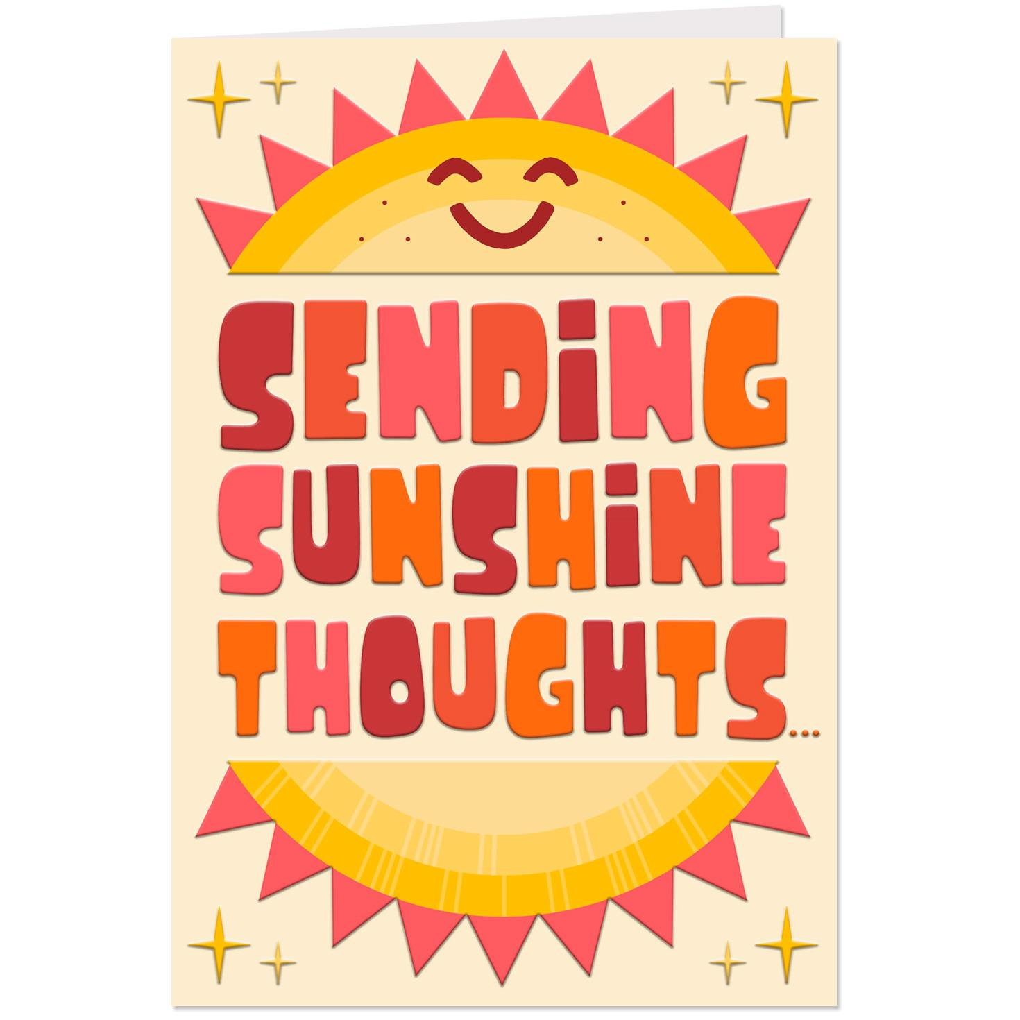 Sending Sunshine Thoughts Thinking Of You Card