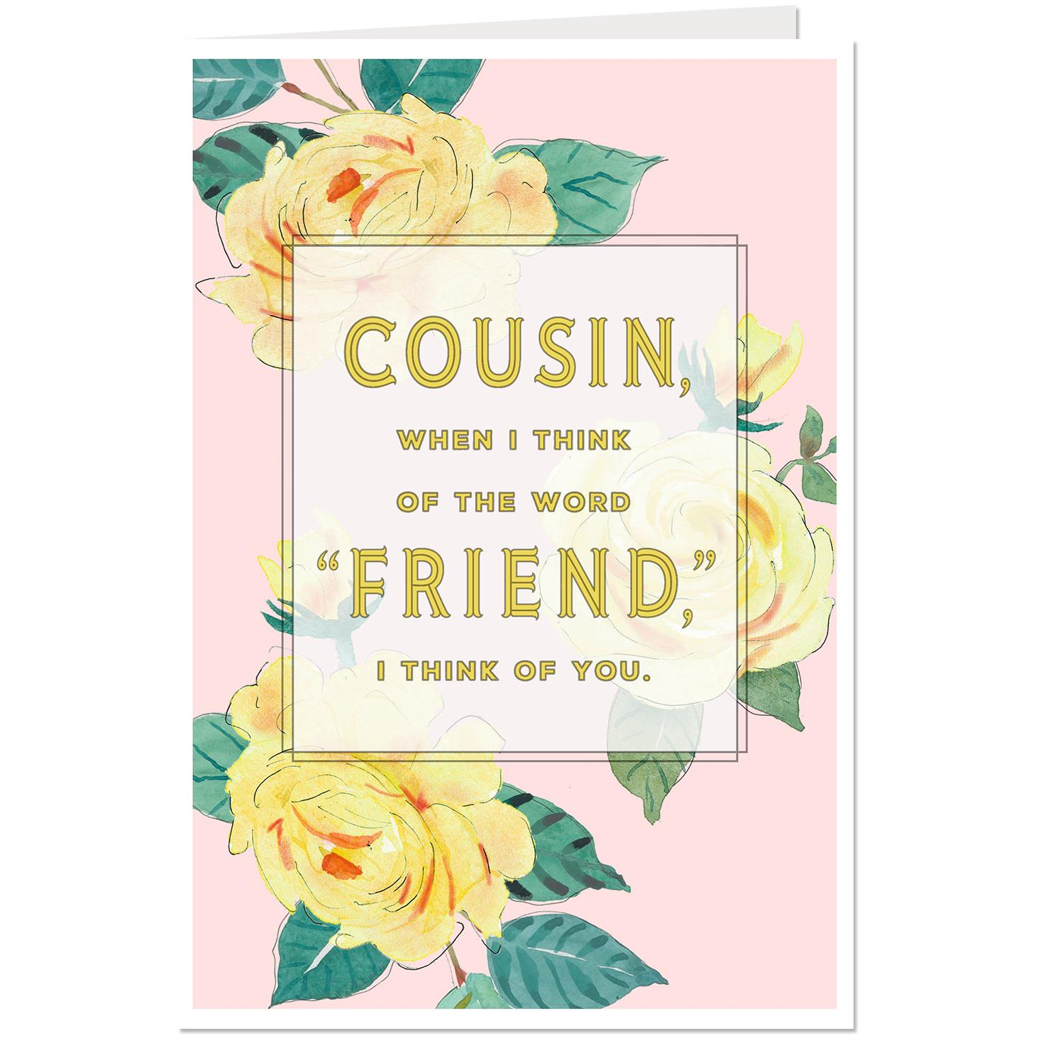 Im Glad We Have Fun Together Birthday Card For Cousin