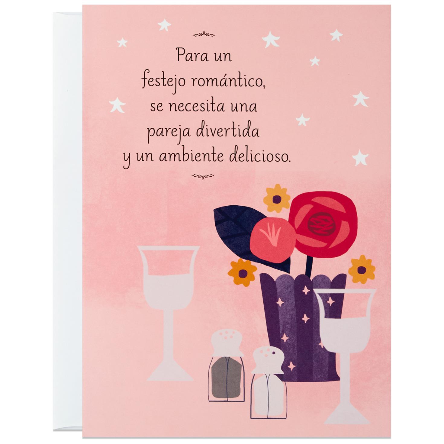 Romantic Celebration Large Spanish Language Pop Up Love Card Lfs Jpg 1470x1470 Hallmark Birthday