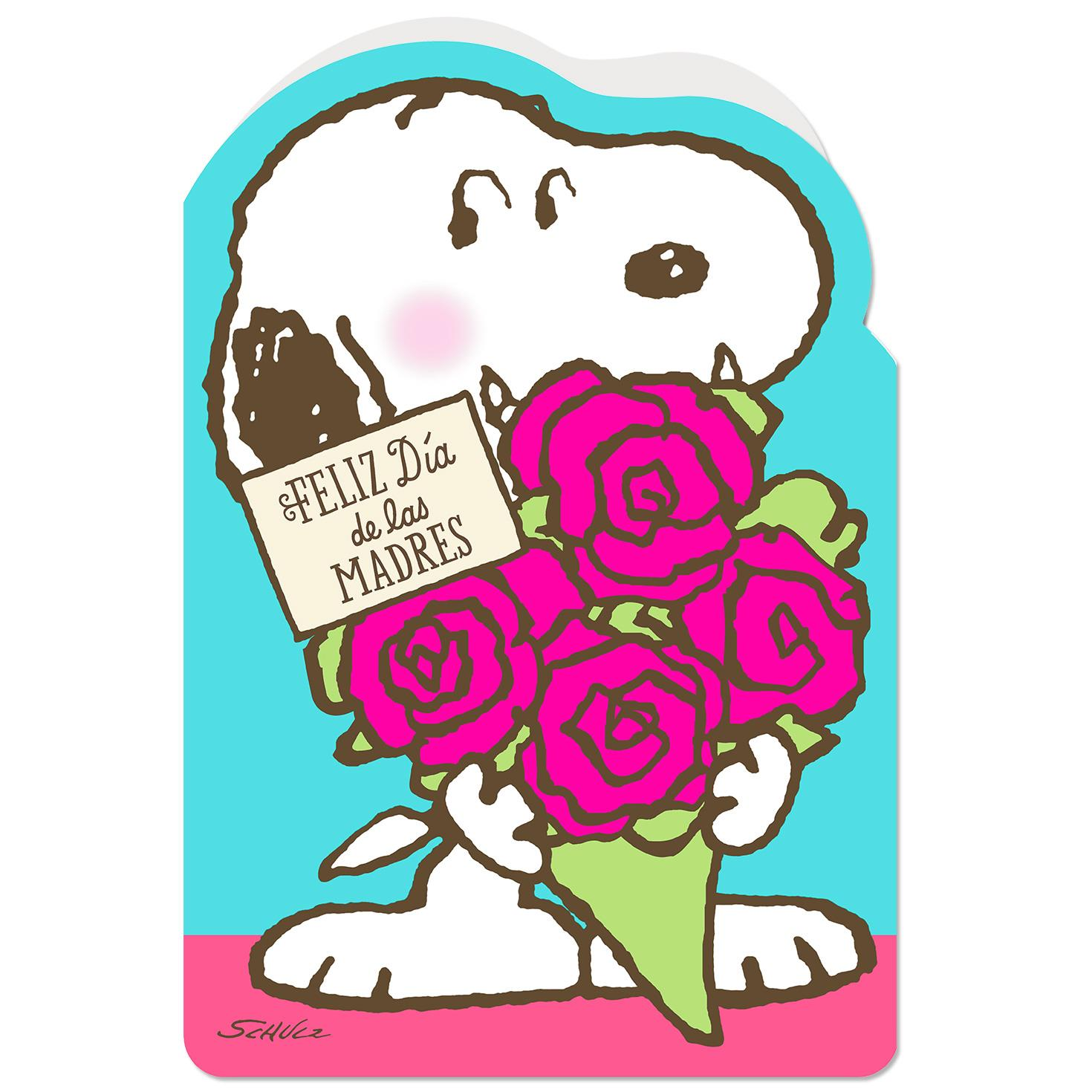 peanuts snoopy great mom spanish language jumbo mothers day card 1925 greeting cards hallmark - Snoopy Christmas Gifts