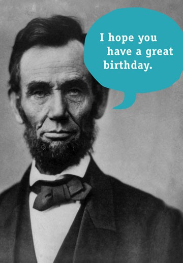 Honest Abe Birthday Card Greeting Cards Hallmark