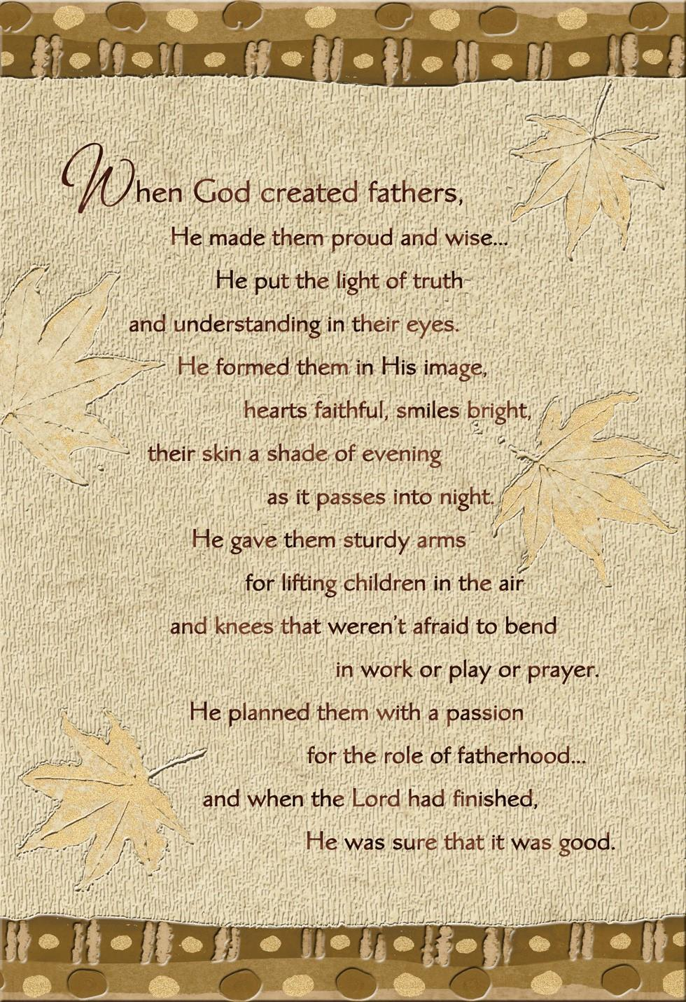 when god created fathers religious father u0027s day card greeting
