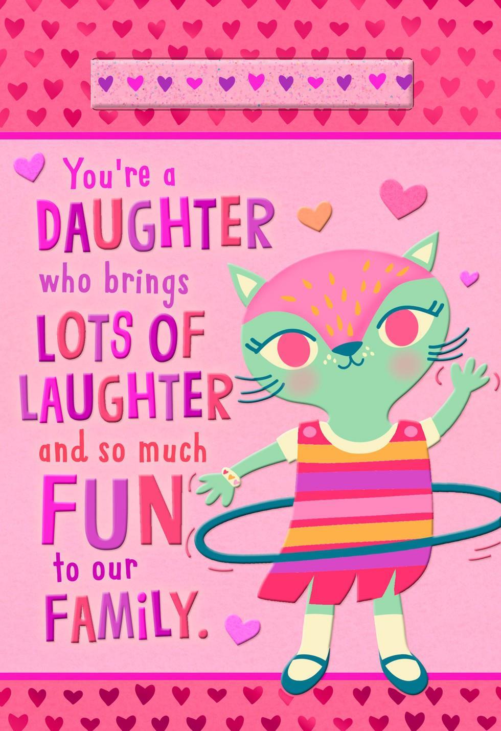 glitter bracelet valentines day card for daughter greeting cards hallmark