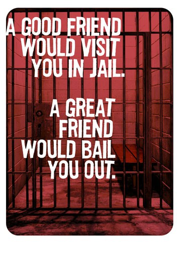 friends in jail funny birthday card