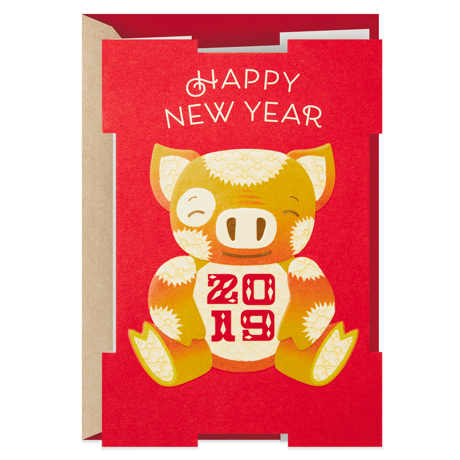 Golden Pig 2019 Chinese New Year Card - Greeting Cards ...