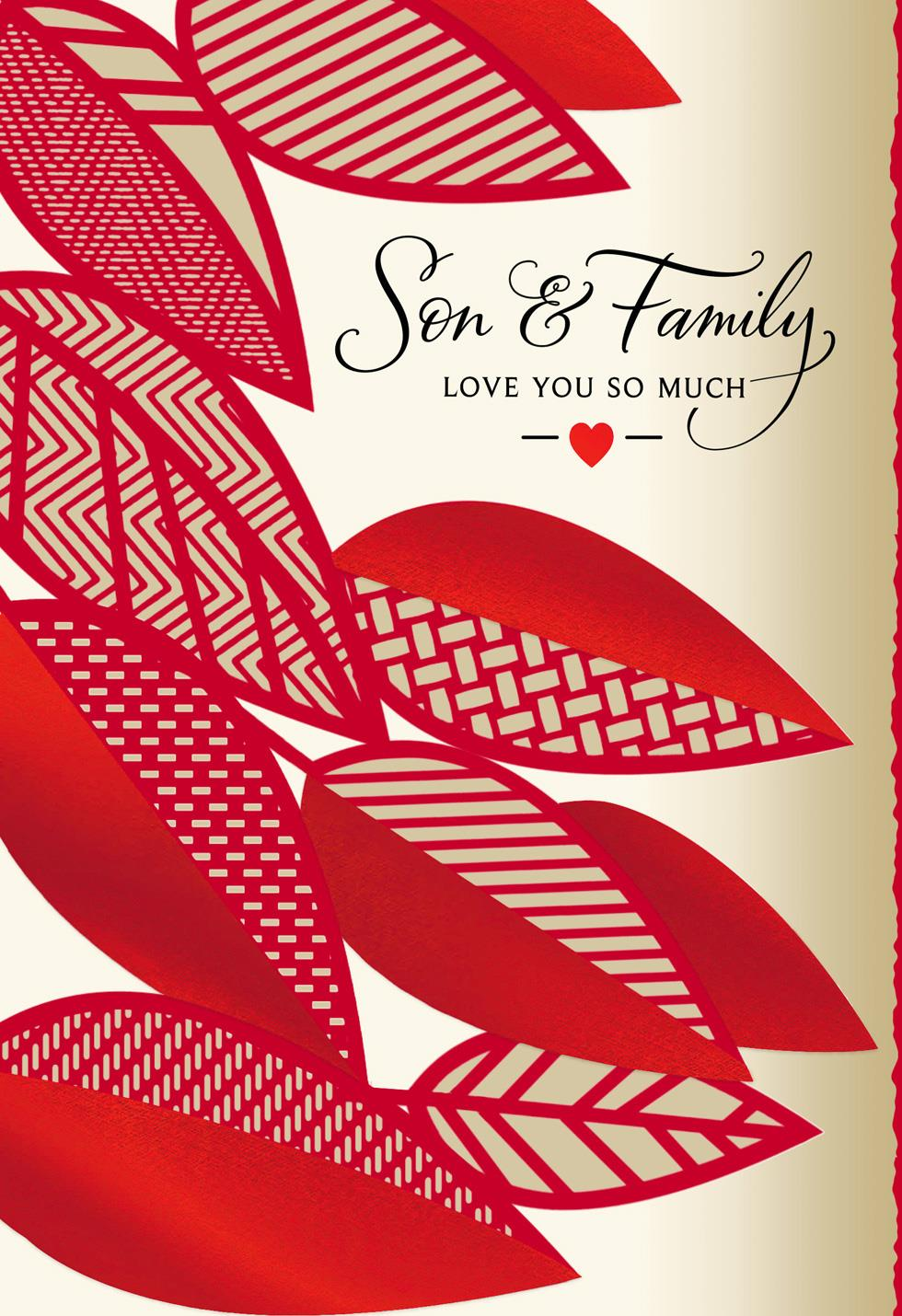 Love You So Much Valentine S Day Card For Son And Family