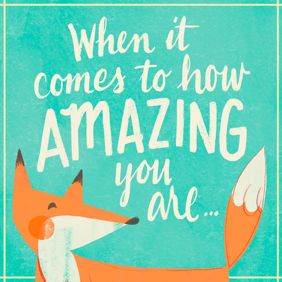 You Re Amazing: You're Amazing Just Because Music Card
