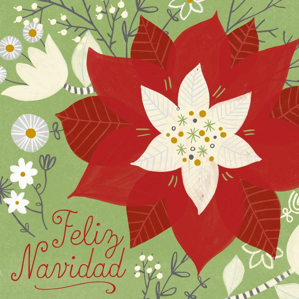 feliz navidad christmas song card - greeting cards