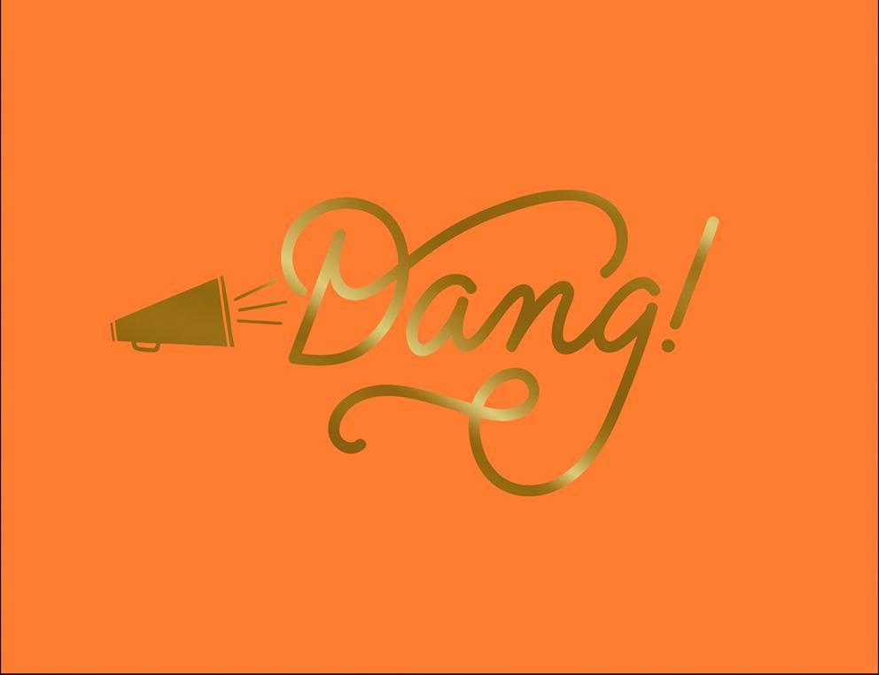 Megaphone Dang! Congratulations Card | Tuggl