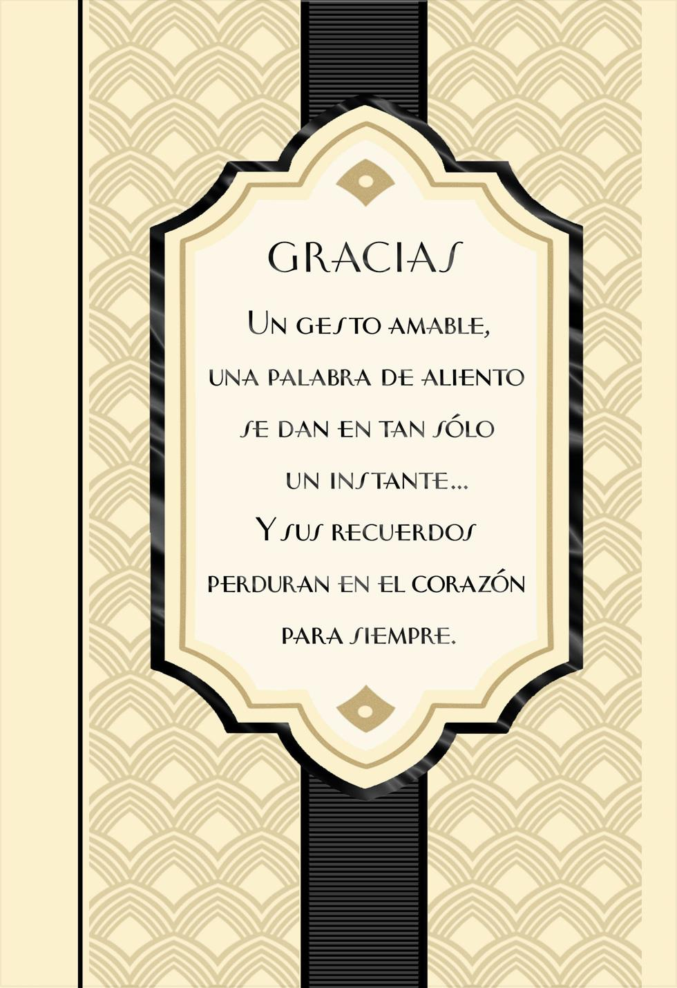 Heartfelt Kindness Spanish Language Thank You Card