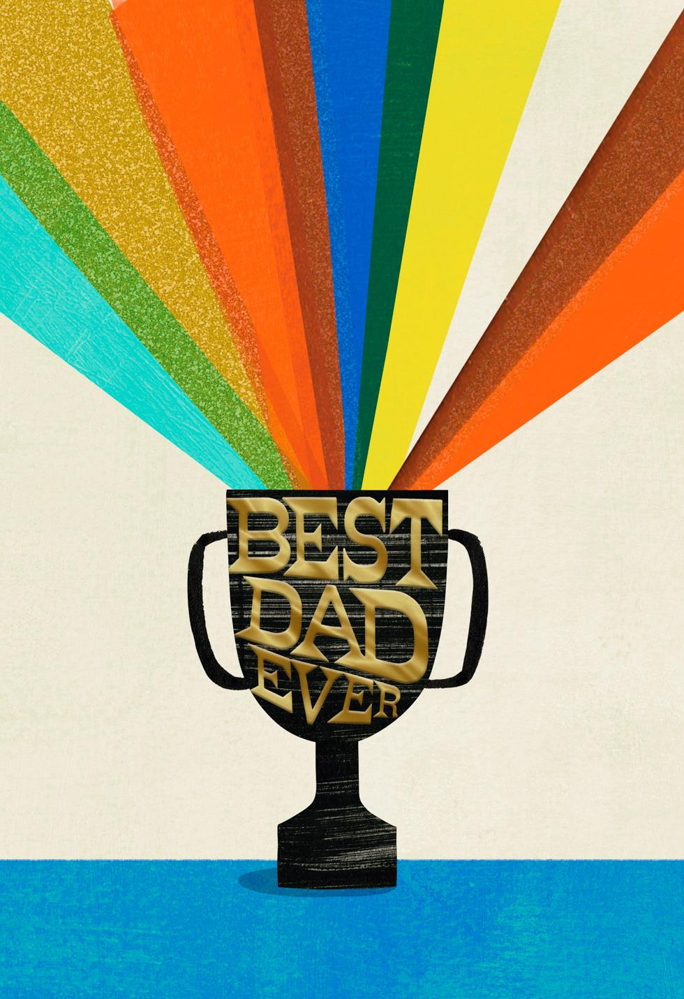 Best Dad Ever Trophy Father S Day Card Greeting Cards