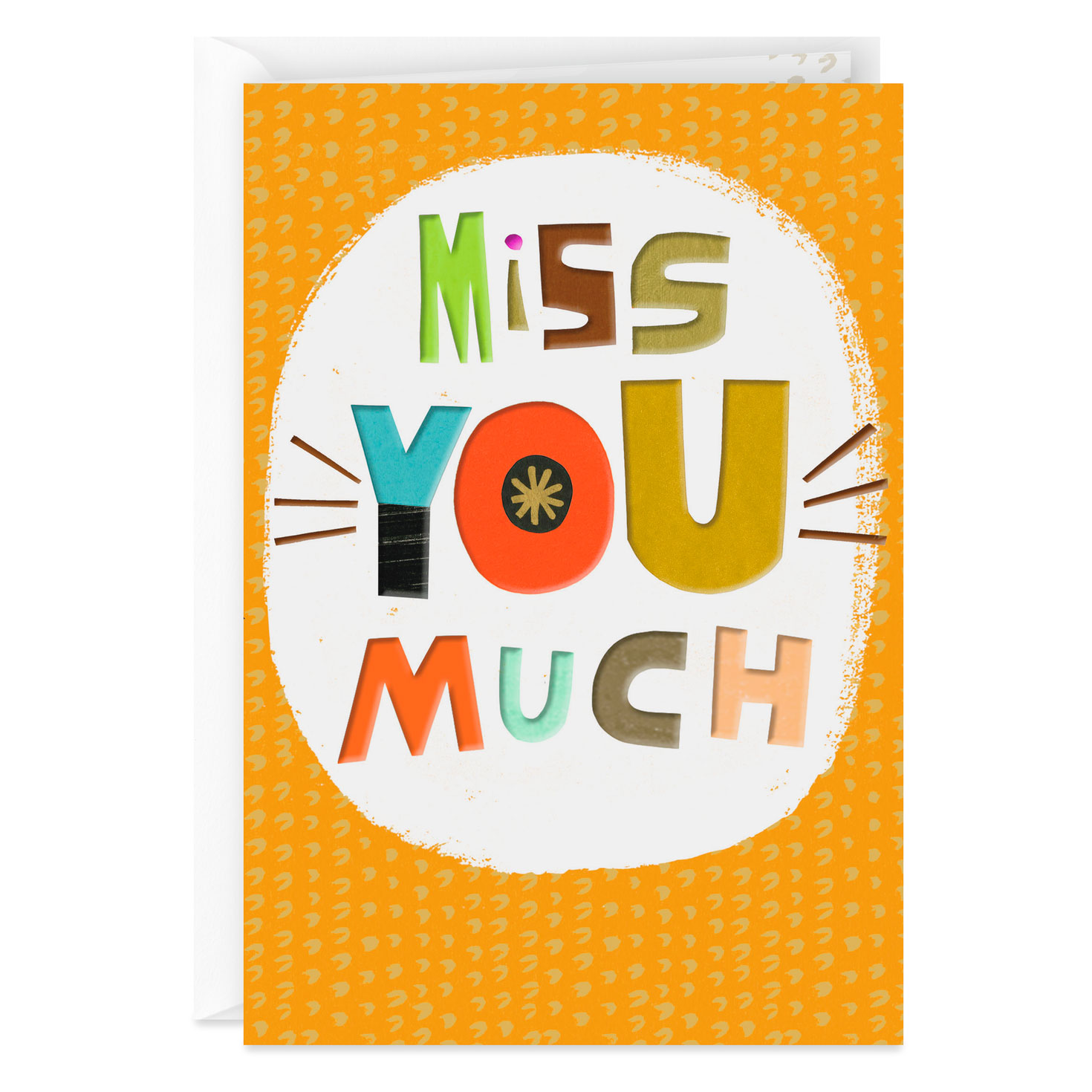 Colorful Block Letter Miss You Card - Greeting Cards ...