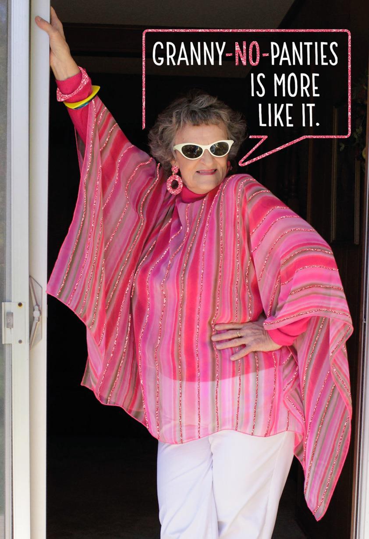 Granny no panties