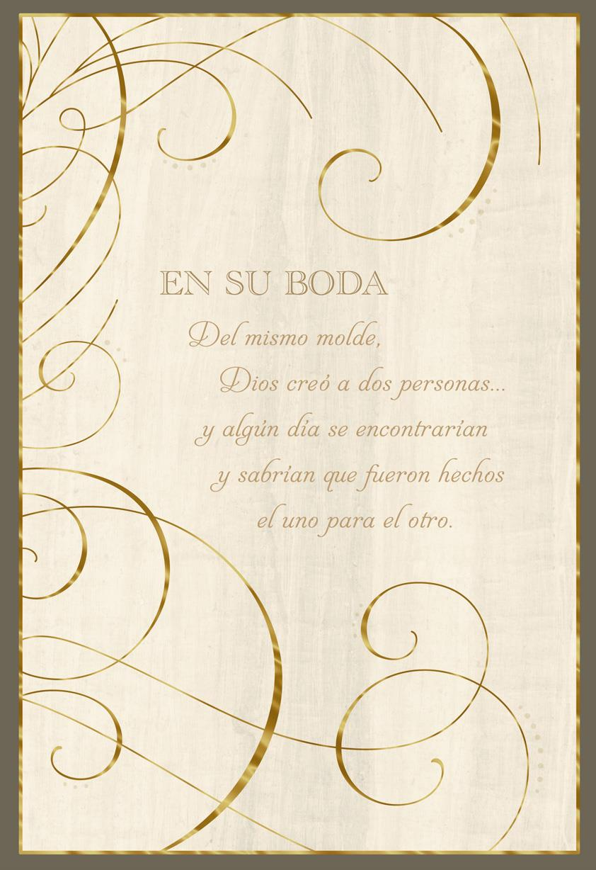 Made To Be Together Spanish Language Religious Wedding Card