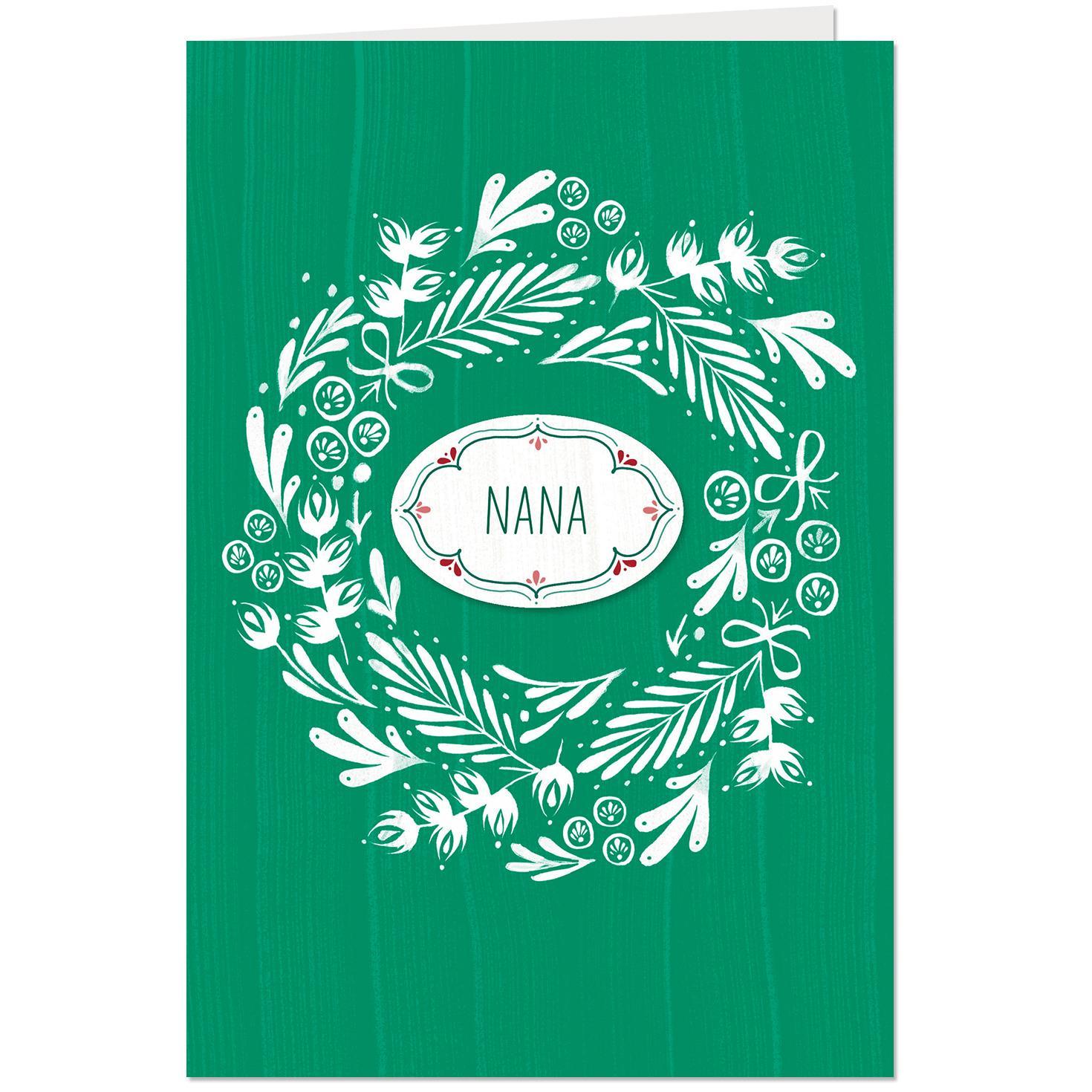 customizable christmas card with grandma name stickers
