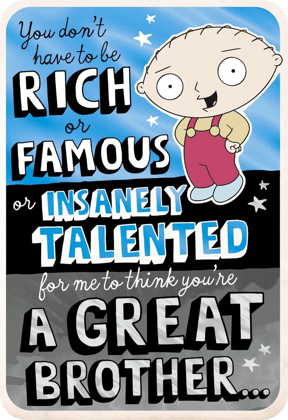 Family Guy Stewie And Chris Birthday Card Greeting Cards