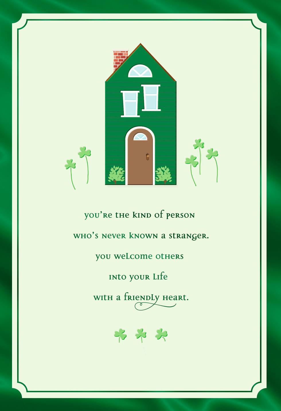 Little Green House St Patricks Day Card Greeting Cards Hallmark