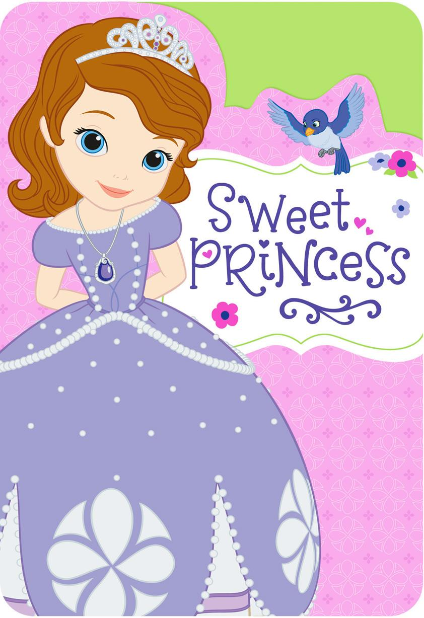Sofia The First Sweet Princess Birthday Card For Girl Greeting