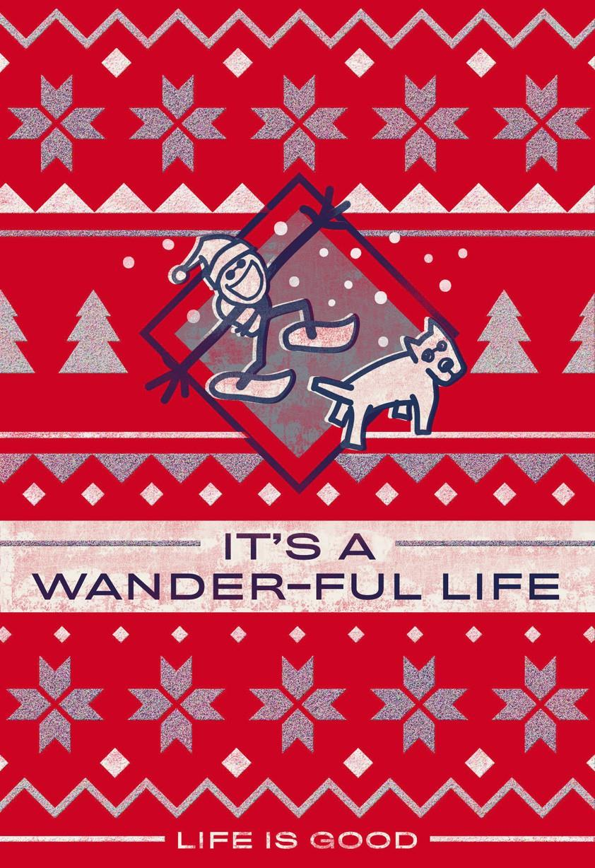 Life is good it 39 s a wander ful life christmas card for When was it s a wonderful life made