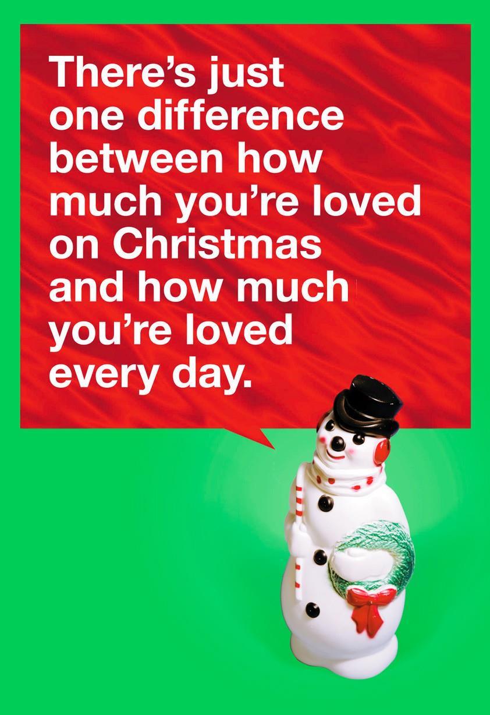 snowman love christmas card - greeting cards