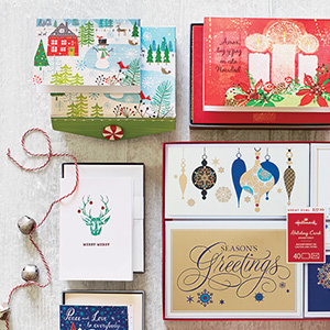 Share the joy with holiday boxed cards.