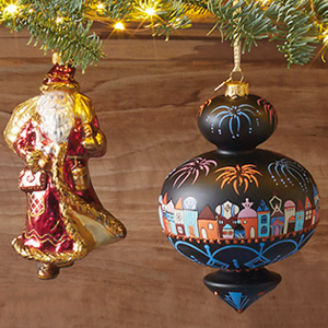 Crafted Heritage Collection ornaments.