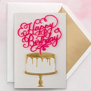 Get the Signature set for wedding and birthday.