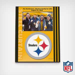 Personalize an NFL frame with your fave team.